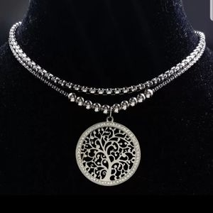 Double layer tree of life Stainless Steel …